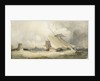 A schooner and a Dutch vessel close hauled in a fresh breeze in St Helier's Bay, Jersey, 1846 by Alfred Herbert