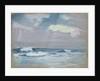 Blue waves breaking on a beach by John Everett