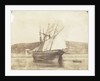Schooner with sails set, dried out at Swansea by Calvert Richard Jones