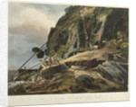 Picturesque views of the Diamond Rock: the passage upon the Rock, with the Mail-Coach by Joseph Constantine Stadler