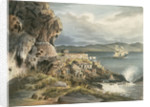 Picturesque views of the Diamond Rock: the 'Centaur' Battery by Joseph Constantine Stadler