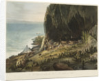 Picturesque views of the Diamond Rock: a lodgement under the rock on the south-west side by John Eckstein