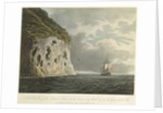 South east view of the Diamond Rock, with the cannon being hauled up from the 'Centaur' by the cable by Joseph Constantine Stadler