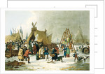 Frost fair on the river Thames, 19th century by Luke Clennel