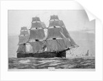 HMS 'Shannon' (1875) under way with full sail by unknown