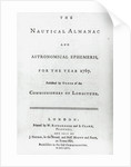 The Nautical Almanac for the year 1767 by W. Richardson