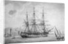 Portrait of French naval vessel 'L' Incorruptible' by Joseph Auge Antonie Roux