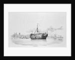HMS 'Grampus' as a hospital ship off Greenwich by W. Porden Kay