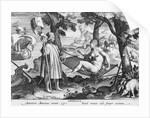 America. Americen Americus retexit, Semel vocauit inde semper exitam by Johannes Stradanus