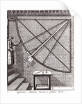 Robert Hooke's 10-foot mural quadrant made for the Royal Observatory by Francis Place