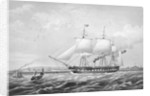 Auxiliary screw-propeller steam frigate HMS 'Arrogant' (1848), 46 guns by Thomas Picken