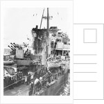 The funnel and bridge area of the destroyer HMS 'Onslow' (1941) by unknown