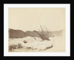 Rawlings Bay, 'Alert' onshore. View from under the bows at low water, August 1876. by unknown