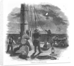'Taking a Lunar Distance' Illustration from Dunkins Night Sky by unknown