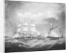 The barque 'Iris' at sea by Thomas Buttersworth