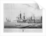 North view of 'Constantinople', taken from the Artillery Quay (called Tophana) with HBM's ships 'Le Tigre' and 'La Bonne Citoyenne' under the command of Sir Sidney Smith, 1799 by John Thomas Serres