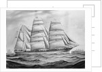 Sailing vessel 'Northbrook' at sea by C. Kensington