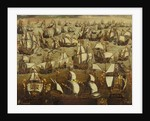English ships and the Spanish Armada, August 1588 by English School
