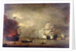 Action between HMS 'Mary Rose' and seven Algerines, 8 December, 1669 by Peter Monamy