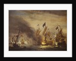 The burning of HMS 'Royal James' at the Battle of Solebay, 28 May 1672 by Willem Van de Velde the Younger