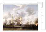 The 'Golden Leeuw' engaging 'The Royal Prince' at the Battle of the Texel, 11 August 1673' by Abraham Storck