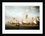Departure of William of Orange and Princess Mary for Holland, 19 November 1677 by Willem Van de Velde the Younger