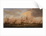 HMY 'Mary' Arriving with Princess Mary at Gravesend in a fresh breeze, 12 February 1689 by Willem Van de Velde the Younger