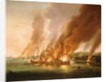 The Battle of La Hogue, 23 May 1692 by Adriaen van Diest