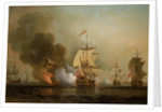 Action off Cartagena, 28 May 1708 by Samuel Scott