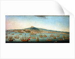 View of the bay of Naples with Admiral Byng's fleet at Anchor, 1 August 1718 by Gaspar Butler