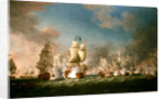 The Battle of Cape Passaro, 11 August 1718 by Richard Paton