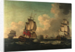 The capture of the 'Alcide' and 'Lys', 8 June 1755 by British School