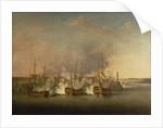 Bombardment of Morro Castle, 1 July 1762 by Richard Paton