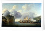 Forcing a passage of the Hudson River, 9 October 1776 by Thomas Mitchell