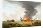 The Quebec' and 'Surveillance' in action, 6 October 1779 by Robert Dodd