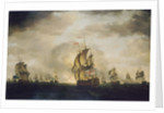 The Moonlight Battle: the Battle off Cape St Vincent, 16 January 1780 by Francis Holman