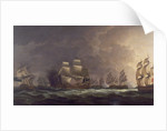 The Moonlight Battle: the Battle off Cape St Vincent, 16 January 1780 by Dominic Serres the Elder