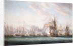 The Battle of the Saints, 12 April 1782 by Nicholas Pocock