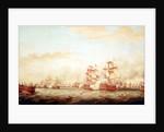 Surrender of the 'Ville de Paris' at the Battle of The Saints, 12 April 1782 by Thomas Whitcombe