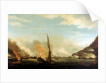 Destruction of the floating batteries at Gibraltar, 13 September 1782 by Thomas Whitcombe