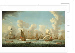 Naval review at Spithead, 1767 by Francis Swaine