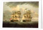 Action between HMS 'Venus' and the 'Semillante', 27 May 1793 by Thomas Elliott