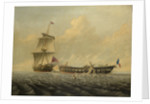 Action between HMS 'Blanche' and the 'Pique', 5 January 1795 by John Thomas Baines
