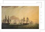 The East Indiaman 'General Goddard' capturing Dutch East Indiamen, June 1795 by Thomas Luny