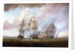 The capture of the 'Resistance' and 'Constance' by HMS 'San Fiorenzo' and 'Nymphe', 9 March 1797 by Nicholas Pocock