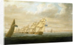 Nelson's inshore blockading squadron at Cadiz, July 1797 by Thomas Buttersworth