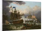 The Battle of Camperdown, 11 October 1797 by Philippe-Jacques de Loutherbourg