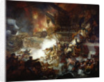 The Battle of the Nile: Destruction of 'L'Orient', 1 August 1798 by Mather Brown