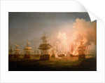 The Battle of the Nile, 1 August 1798, end of the action by Thomas Whitcombe
