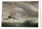 HMS 'Endymion' rescuing a French two-decker, 1803 by Ebenezer Colls